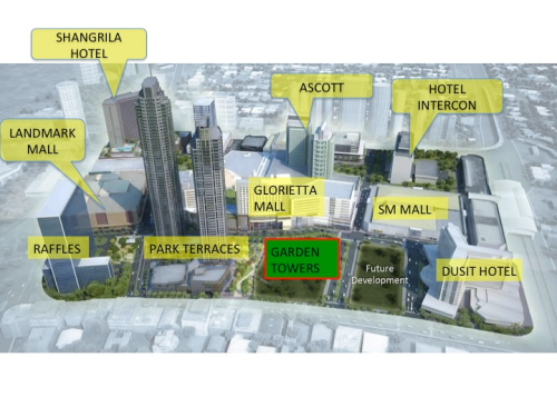 Location of Garden Towers (photo)