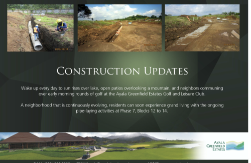 AYALA GREENFIELD ESTATES Construction Updates