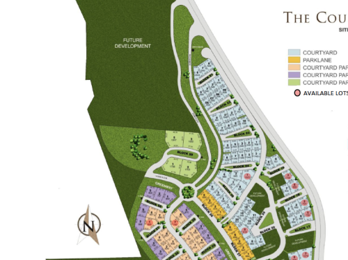 The Courtyards map