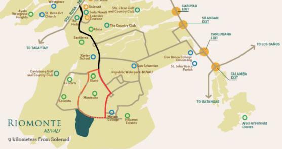 RIOMONTE NUVALI MAP