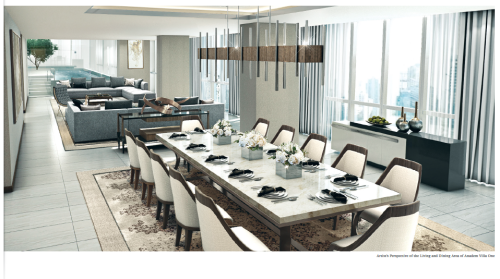 Park Central Towers Anadem Villa Living and Dining Room