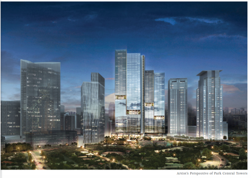 Park Central Towers Makati Skyline