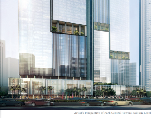 Park Central Towers Retail Podium