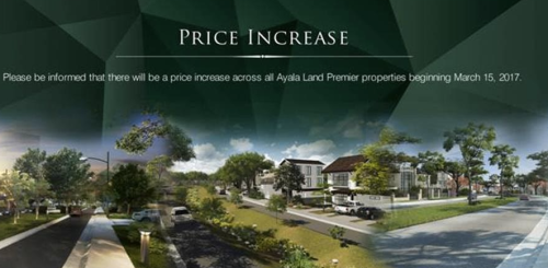 Price Inrease Ayala Land Premier