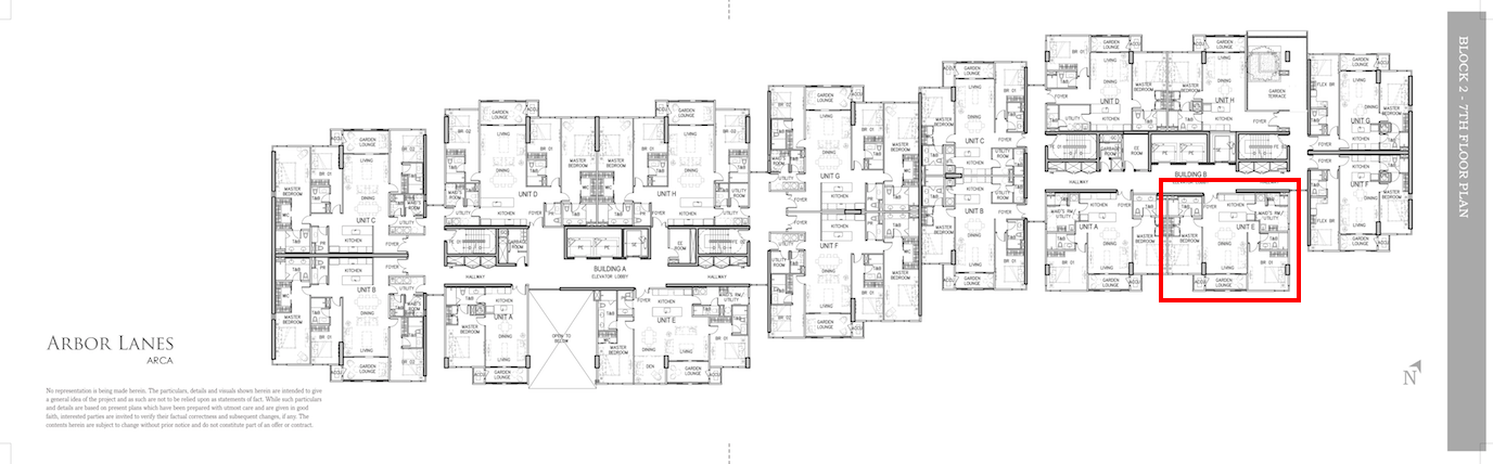 Arbor Lanes Block 2 Unit B 7E Floor Layout