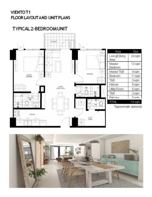 FLOOR LAYOUT AND UNIT PLANS TYPICAL 2 BR (1)