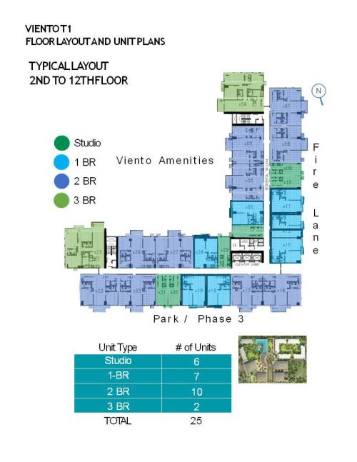 TYPICAL LAYOUT 2ND TO 12TH FLOOR
